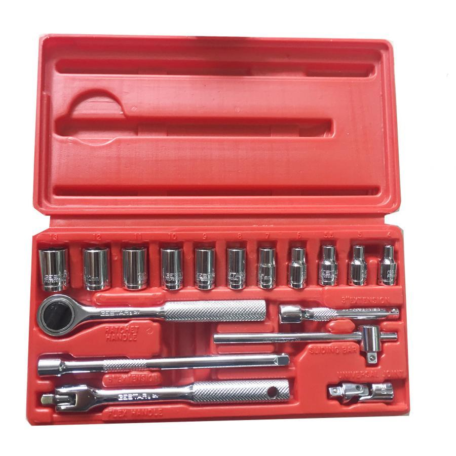 Bộ khẩu 1/4 17PCS hộp nhựa GE299-080 GESTAR 22-122