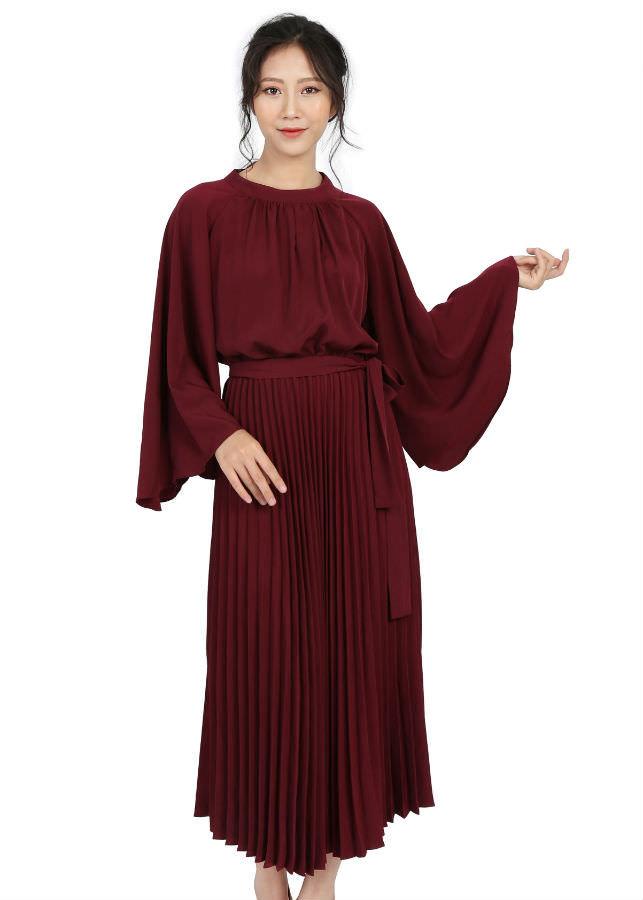 Váy Nữ Liền Chân Dập Meein MI-V1002R - Đỏ (Freesize)