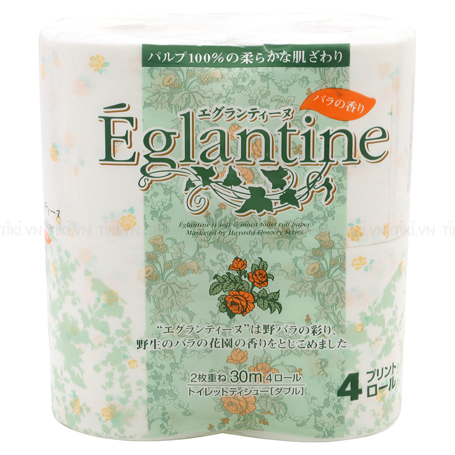 Giấy Vệ Sinh Eglantine (4 Cuộn) - Giao màu ngẫu nhiên