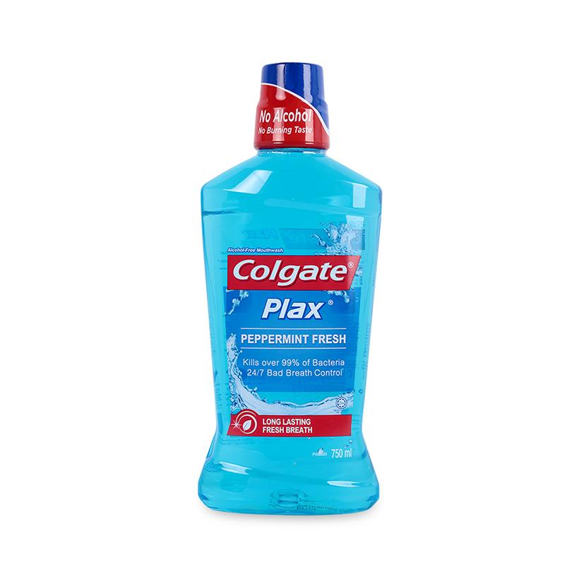 Nước Súc Miệng Colgate Plax bạc hà the mát 750ml không chứa cồn