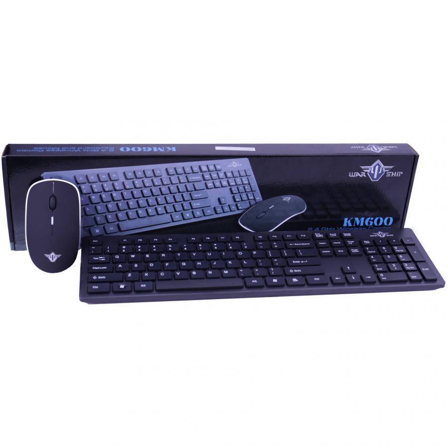 Bộ bàn phím chuột không dây Warship KM600