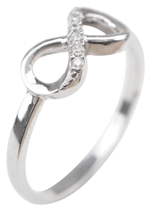 Nhẫn Vô Cực 1 Hàng Hột Gix Jewelry GR016 - Trắng