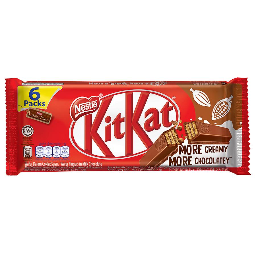 Gói 6 Thanh Bánh Socola KitKat 2F 17g