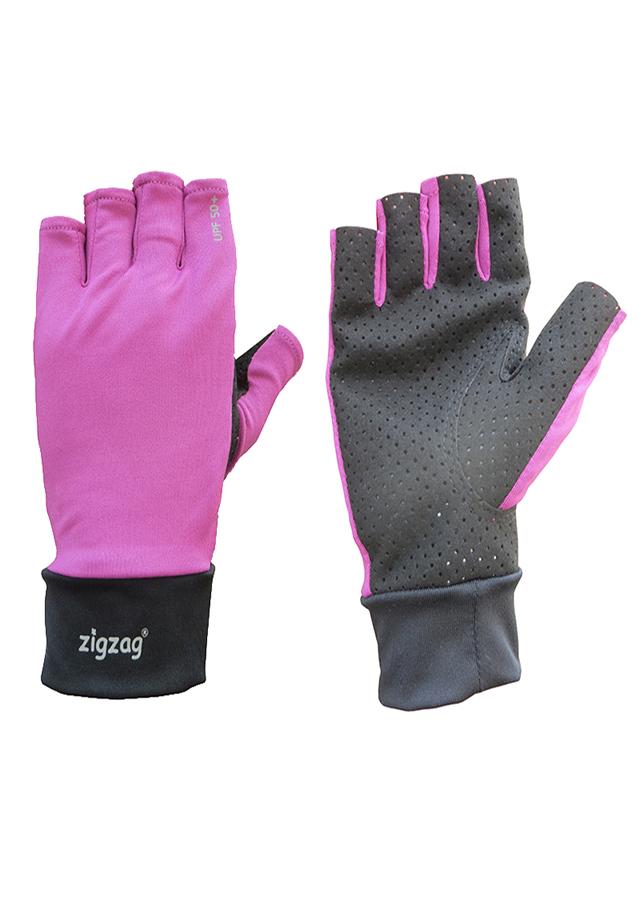 Găng tay xe đạp chống nắng UPF50+ tím đen Zigzag GLV00510