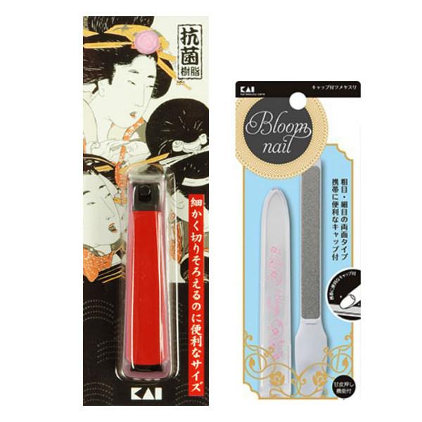 Combo bấm móng tay cao cấp + dũa móng tay có nắp đậy nội địa Nhật Bản