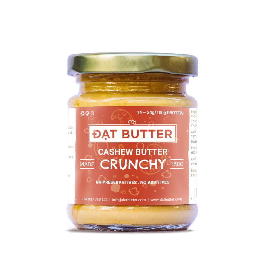 Bơ Hạt Điều Có Hạt Tự Nhiên Đạt Butter (150g)