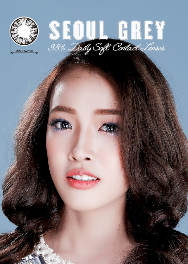 [Một cặp] Kính Áp Tròng Dùng 1 Ngày Eye Secret KM1N - Seoul Grey