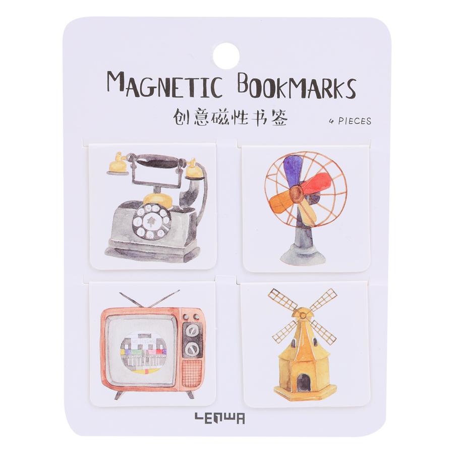 Bookmarks Magnetic - Đồ Dùng (Bộ 4 Cái)
