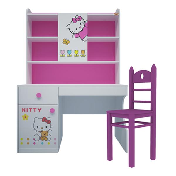 Bộ Bàn Học Có Giá Sách Hình Hello Kitty IBIE CSKITRM12 (1m2)