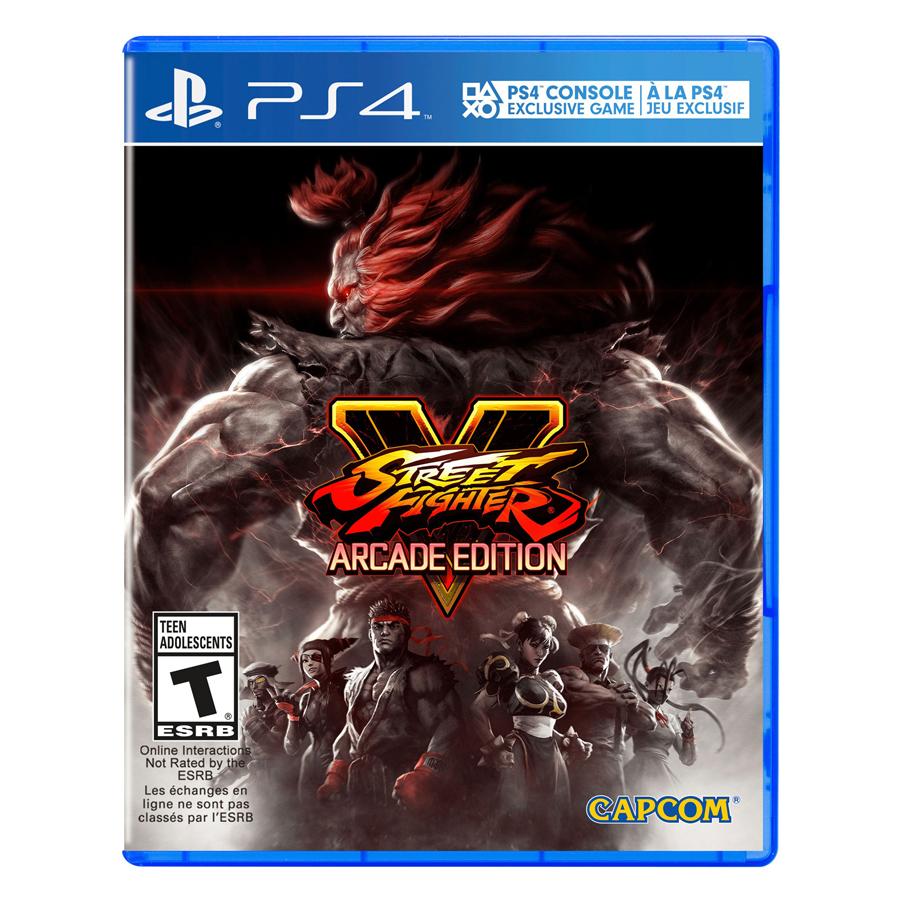 Đĩa Game PlayStation PS4 Sony Street Fighter V Arcade Hệ Asia