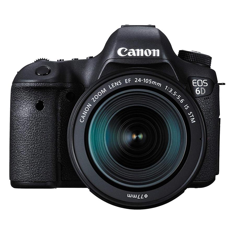 Máy Ảnh Canon 6D kit 24-105mm F3.5-5.6 IS STM (Hàng chính hãng) - Tặng thẻ 16GB + túi máy + tấm dán LCD