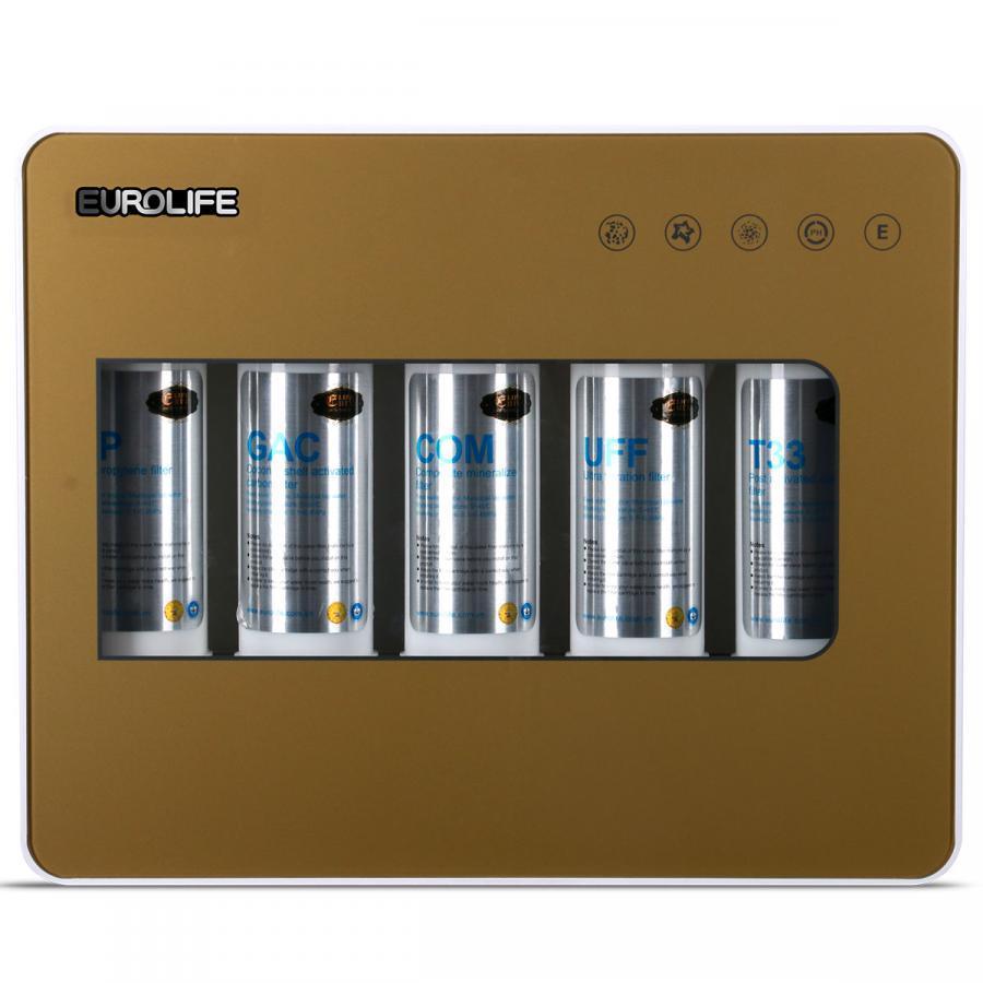 Bộ lọc nước 5 cấp độ uống trực tiếp Ultra-filter Eurolife EL-UF5-1 (Vàng đồng)