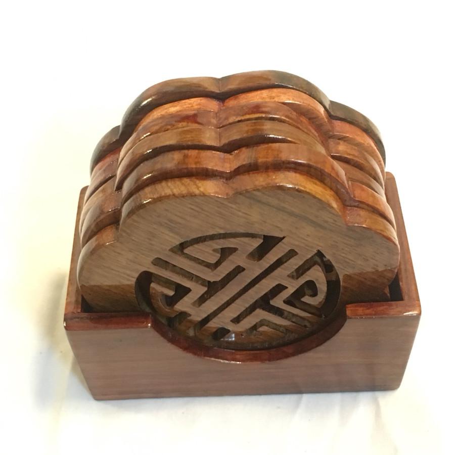 Bộ lót LY CHỮ PHÚC gỗ hương