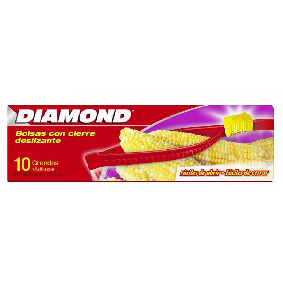 Túi đựng thực phẩm Diamond có khóa kéo PE - Size Large