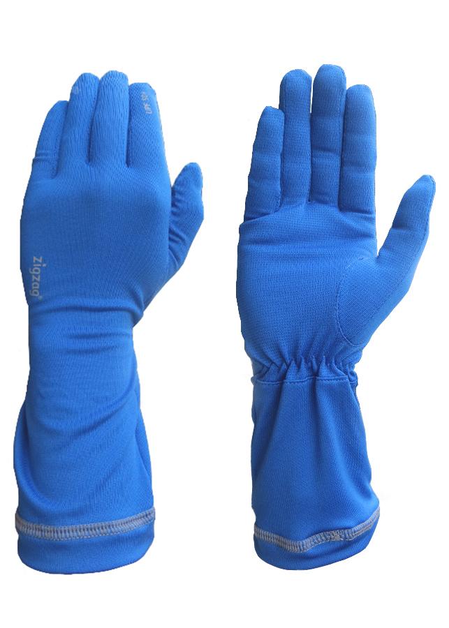 Găng tay nữ chống nắng UPF50+ xanh da trời Zigzag GLV00303