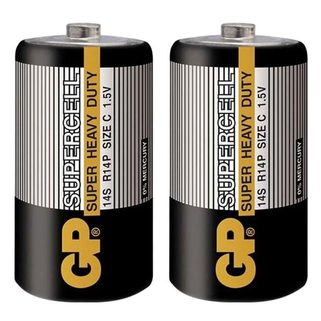 Pin GP Carbon Zinc Supercell C GP14S-2S2 (2 Viên/ Vỉ)