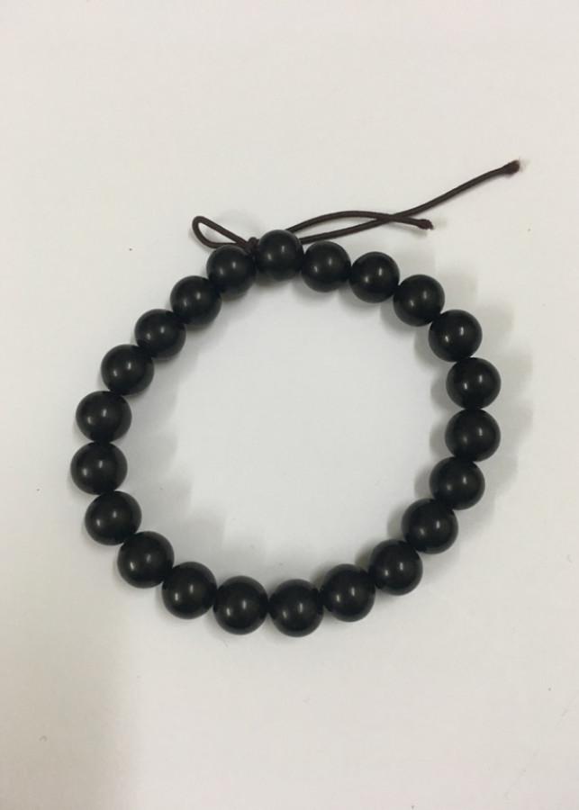 Vòng tay  sừng trâu cao cấp (TH29 màu đen 22 hạt 6ly dài 18cm)