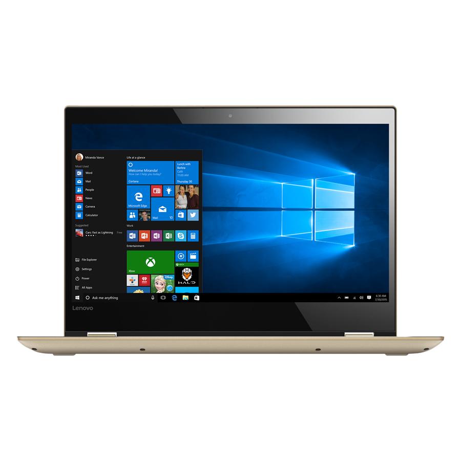 Laptop Lenovo Yoga 520 80X800WQVN Core i3-7130U/Win 10 (14 inch) - Gold - Hàng Chính Hãng