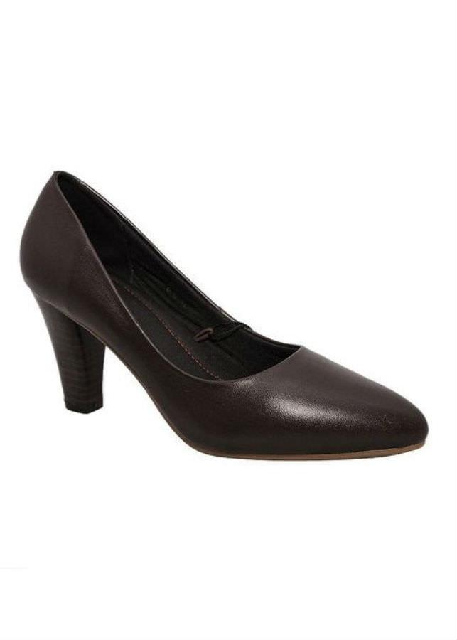 Giày Cao Gót Nữ Da Bò Elmi ESW79 - Nâu (Size 36)
