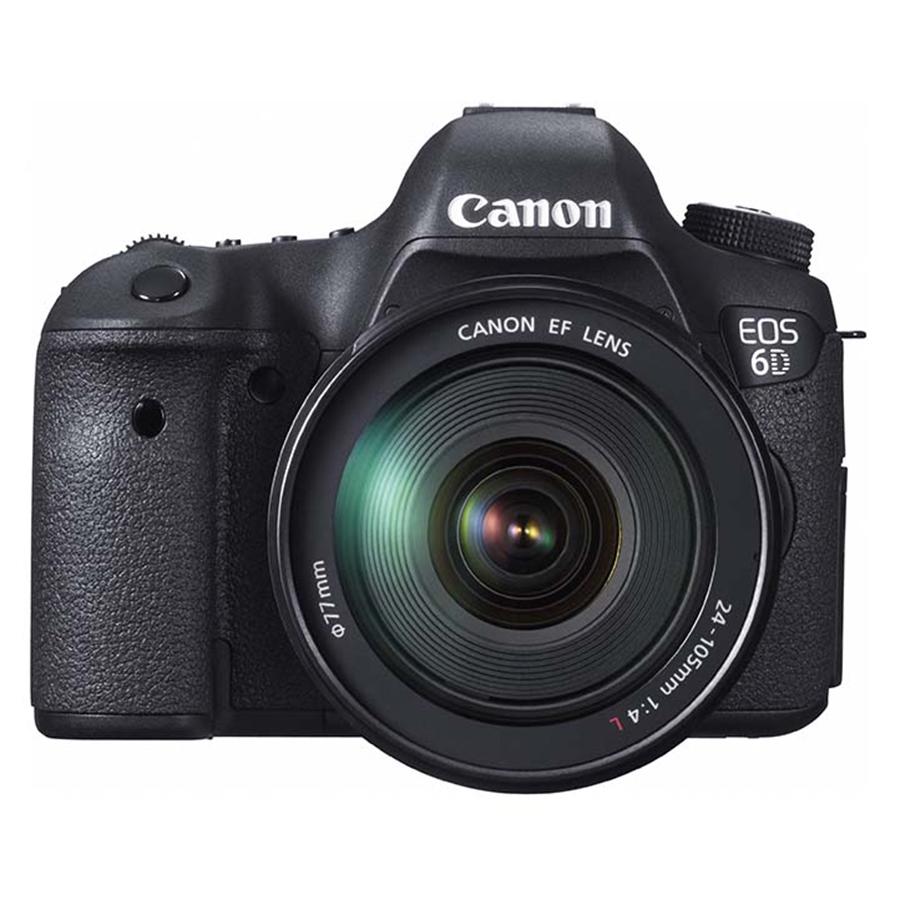 Máy Ảnh Canon 6D kit 24-105mm F4L IS (Hàng chính hãng) - Tặng thẻ 16GB + túi máy + tấm dán LCD