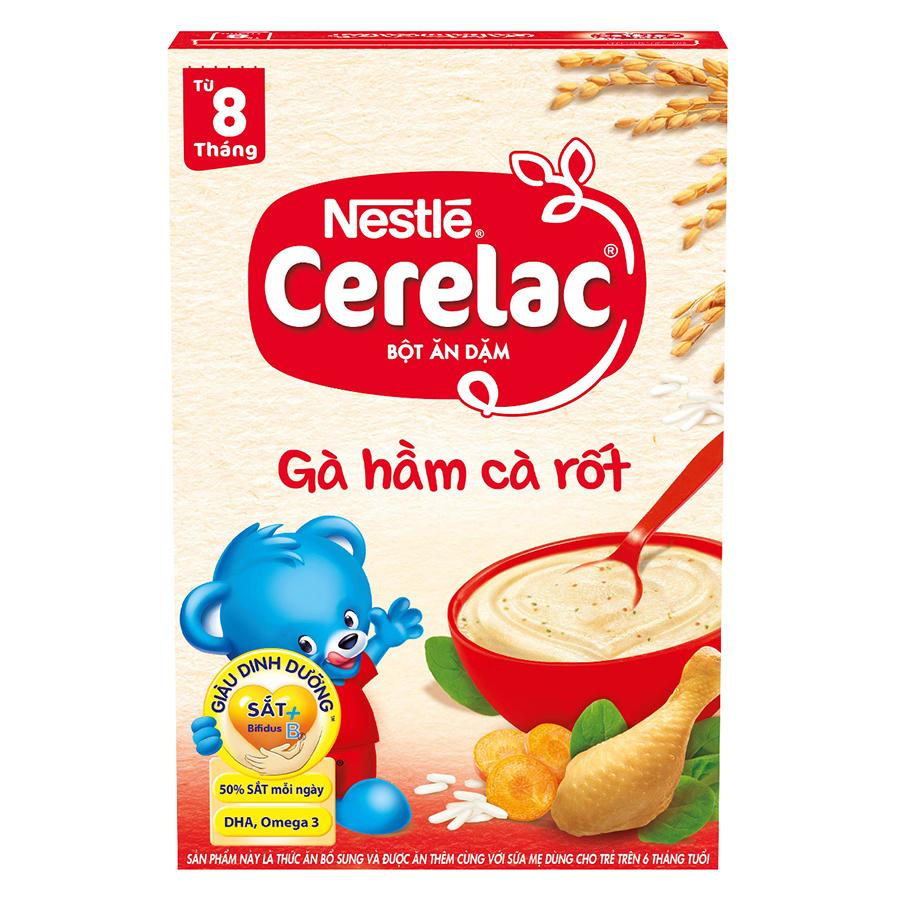 Bột Ăn Dặm Nestle Cerelac - Gà Hầm Cà Rốt (200g)