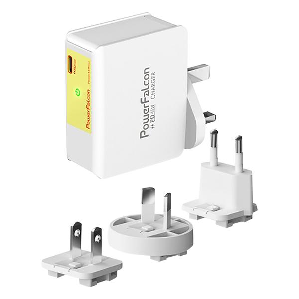 Cục Sạc Powerfalcon 45W PD Charger /Interchangeable