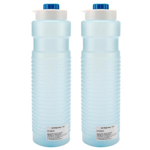 Combo 2 cái bình nhựa đựng nước 1.1L nội địa Nhật Bản