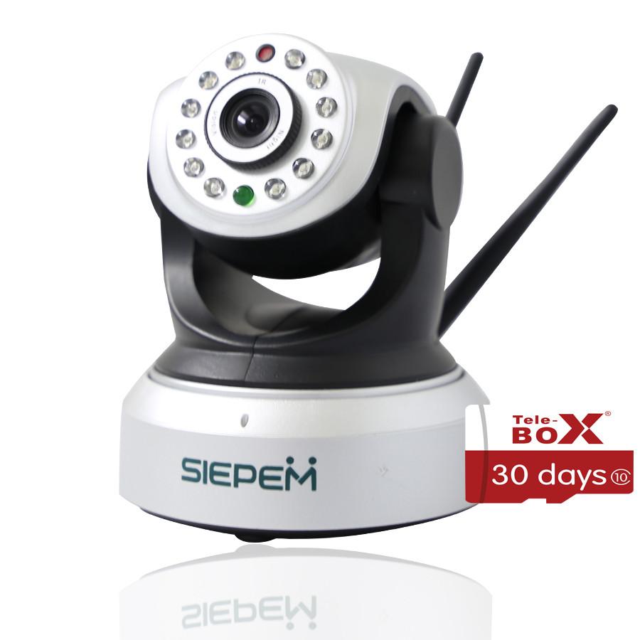 Combo Camera Ip Wifi Quan Sát Siepem Model 2018 + Kèm 1 Thẻ Nhớ Telebox 16Gb