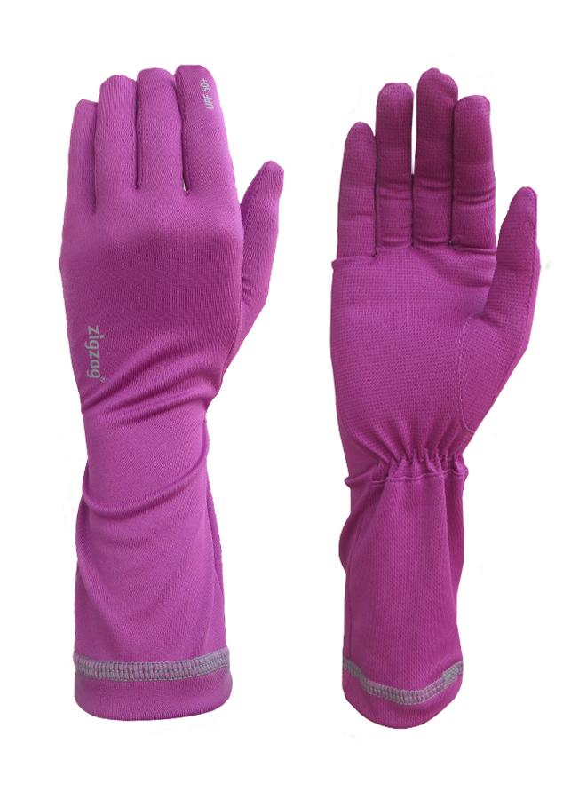 Găng tay nữ chống nắng UPF50+ tím Zigzag GLV00308