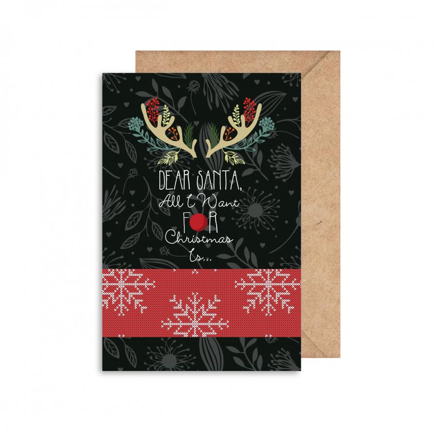 Thiệp giấy in Noel mẫu 1 GC001100028