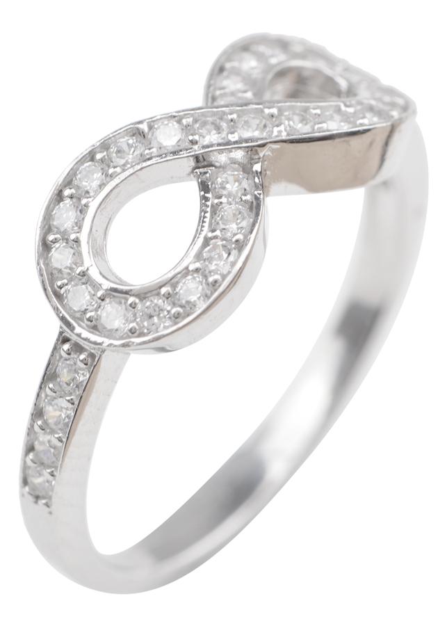 Nhẫn Vô Cực 2 Hàng Hột Gix Jewelry GR015 - Trắng
