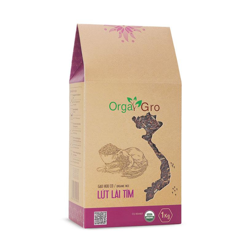Gạo hữu cơ Lứt lài tím OrgaGro (1kg)