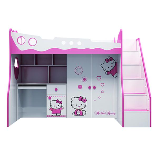 Giường Tầng 3 Trong 1 Hình Hello Kitty IBIE CD31KM12
