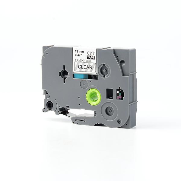 Mua Tape nhãn in tương thích CPT-131 dùng cho máy in nhãn Brother P-Touch (chữ đen nền trong, 12mm)