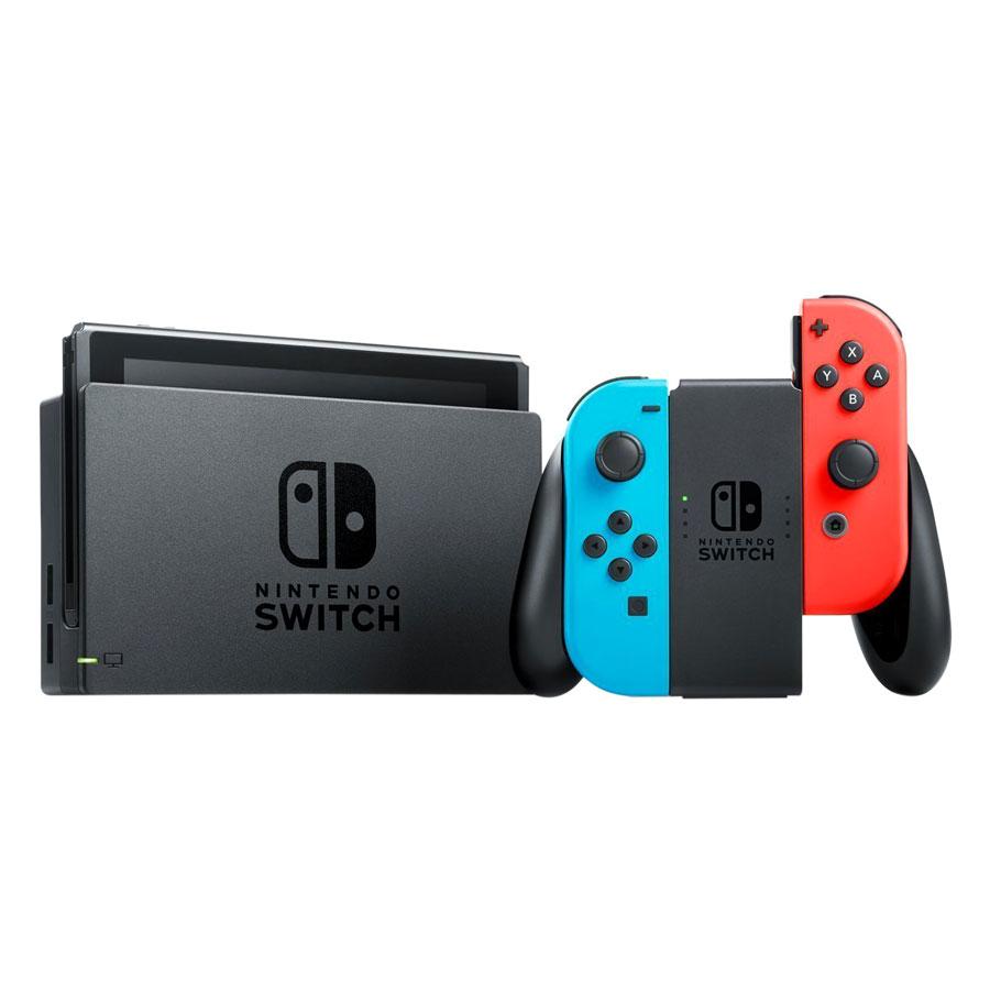 Máy Chơi Game Nintendo Switch Với Neon Blue Và Red Joy‑Con (Xanh Đỏ) US Version - Hàng Nhập Khẩu