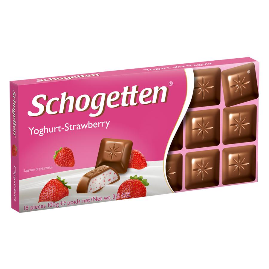 Sôcôla Thanh Ludwig Schokolade 13 Vị Schogetten Sữa Chua Dâu Tây MM13Y (100g)