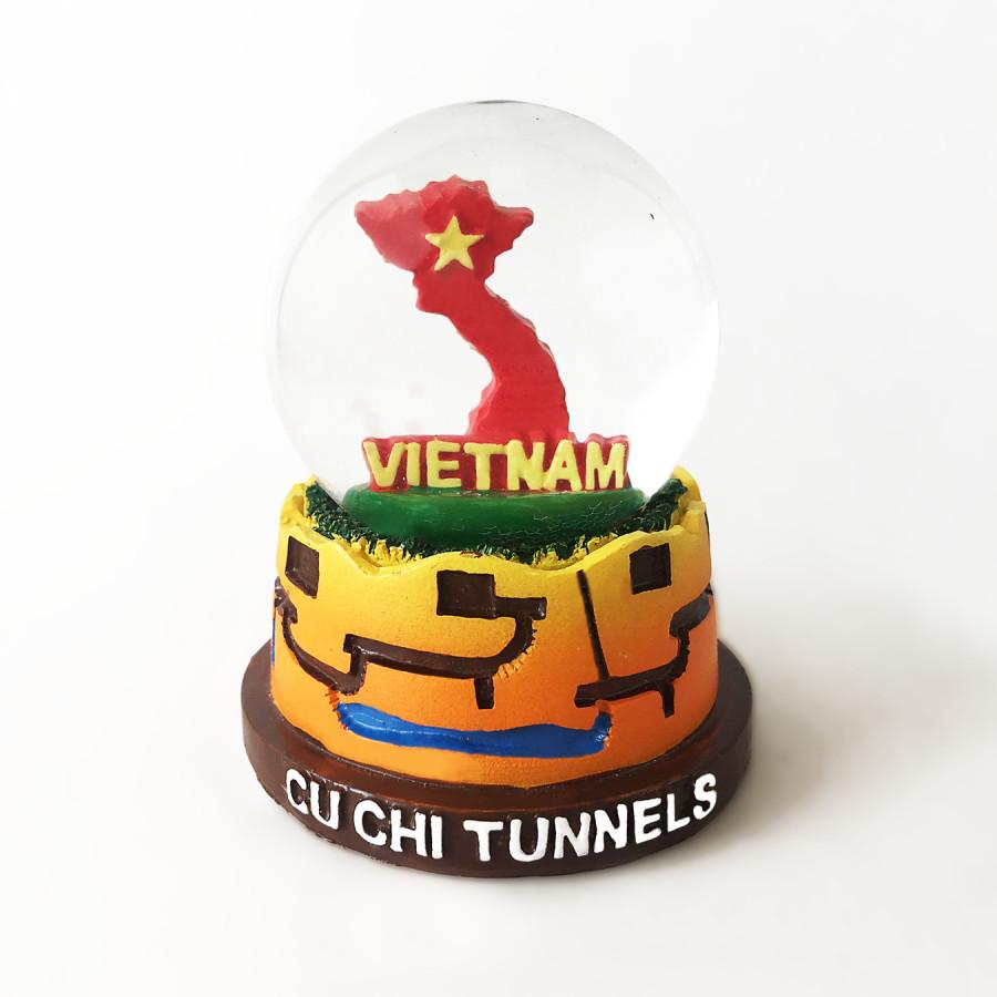 Quả Cầu Tuyết Bản đồ Việt Nam - Địa đạo Củ Chi