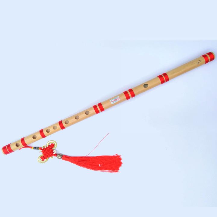 Sáo trúc HL15 tone đô c5 tặng kèm dây treo sáo trang trí chuẩn âm 6 lỗ bấm full 3 quãng cơ bản chất lượng tốt