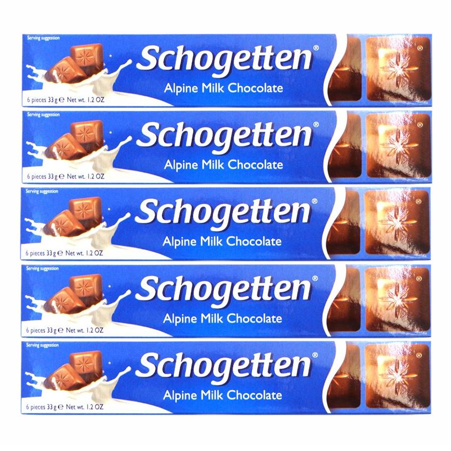 Combo 5 Thanh Sôcôla Ludwig Schokolade 13 Vị Schogetten Mini- Sữa (33g)
