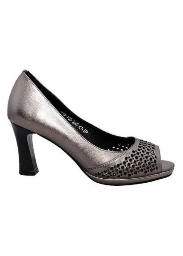 Giày Hở Mũi Nữ Cao Gót Da Bò Elmi ESW119 - Xám (Size 38)