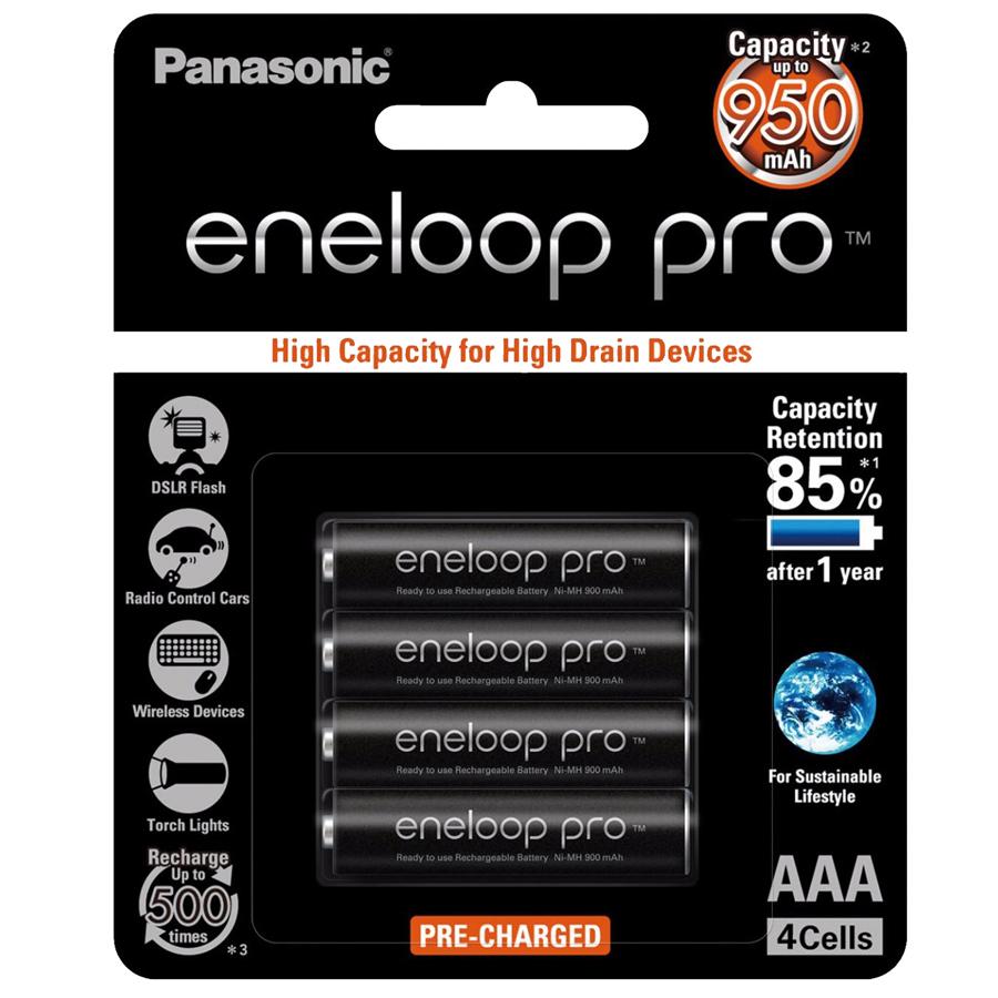Bộ pin sạc Panasonic AAA 950 Mah - Made in Japan