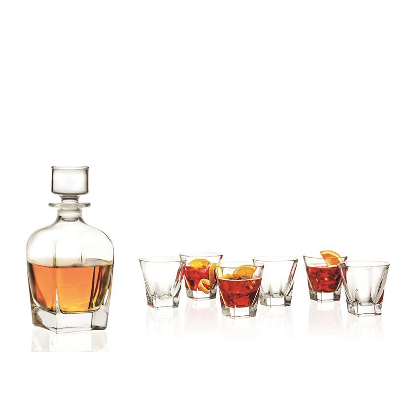 Bộ Bình và 6 ly rượu whisky pha lê RCR Crystal Fusion