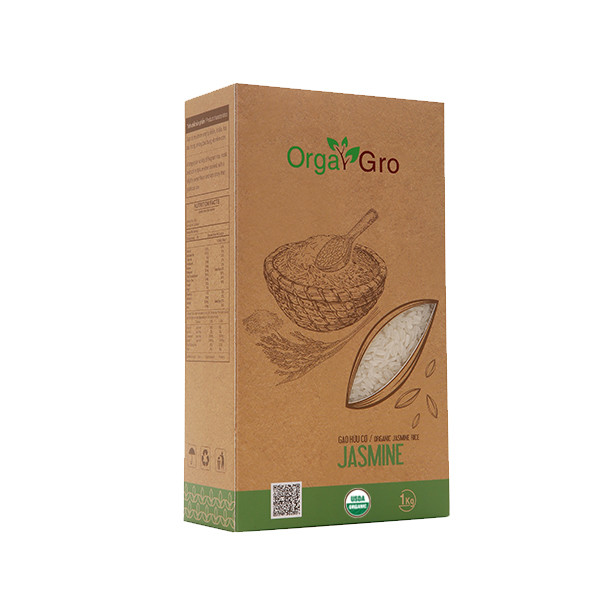 Gạo hữu cơ OrgaGro Jasmine 3kg ( Organic )