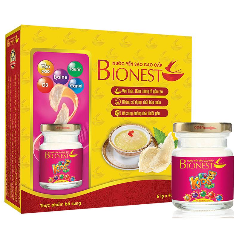 Bộ 2 hộp Yến sào Bionest Kids cao cấp - hộp tiết kiệm 6 lọ