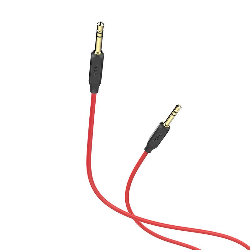 Cáp 2 đầu âm thanh AUX Hoco UPA 11 dài 1M Hàng chính hãng màu đỏ