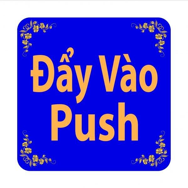 Bảng Chỉ Dẫn Đẩy Vào - BV-010 (Xanh)