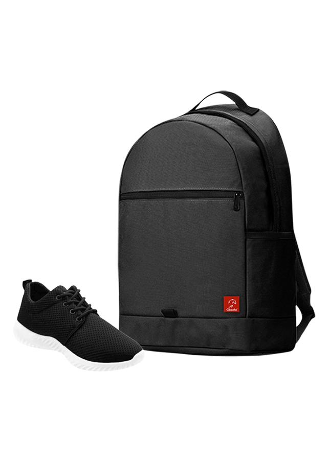 Combo Balo Glado Classical BLL006BA - Đen + Giày Sneaker GS062BA - Đen