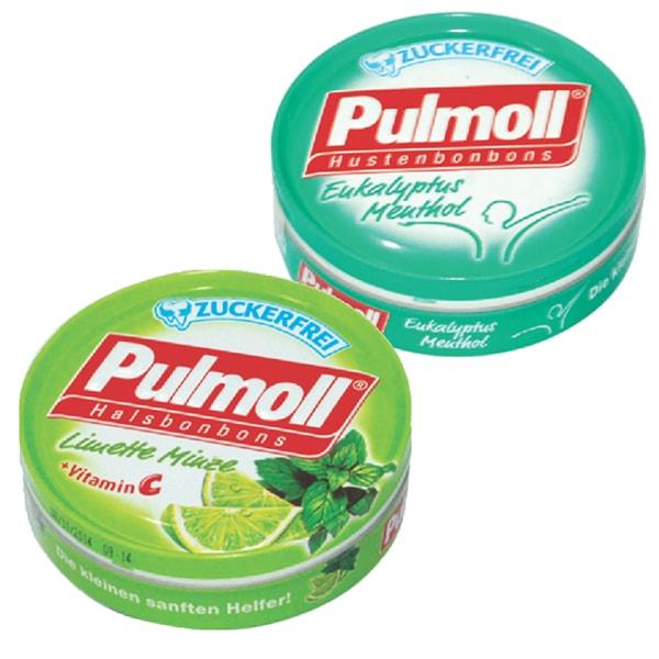 Combo 2 Hộp Kẹo Pulmoll Eukalyptus Menthol (50g) + Limette (50g)
