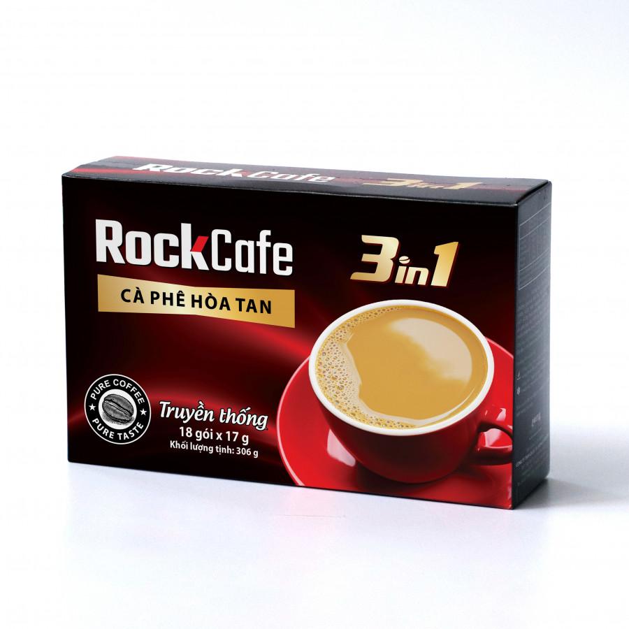 Cà phê hòa tan 3 trong 1 ROCKCAFE - Truyền thống