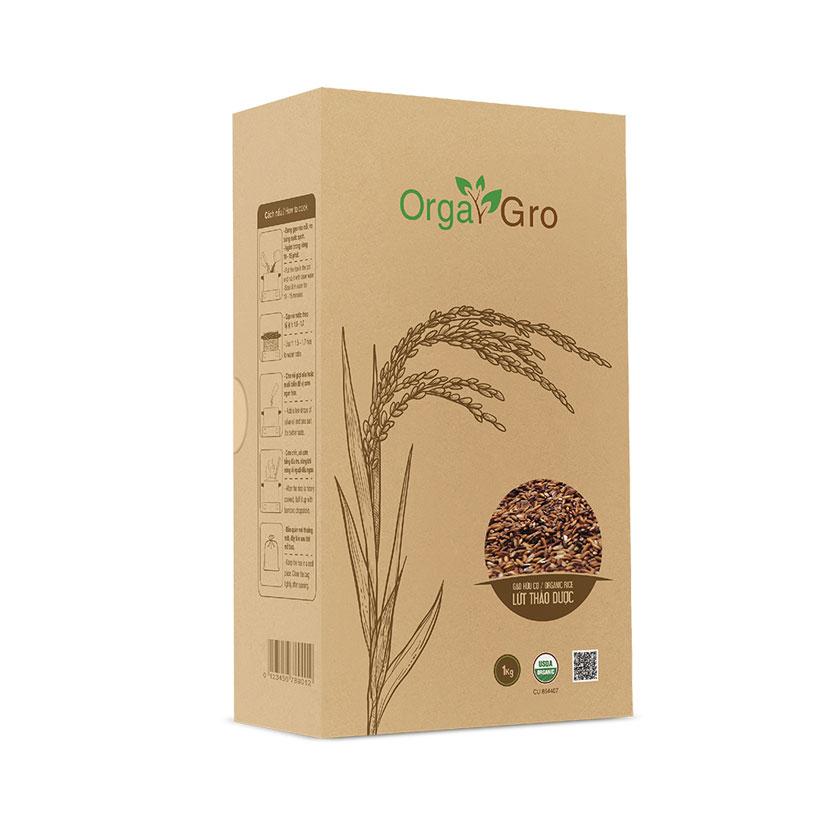 Gạo hữu cơ Lứt thảo dược OrgaGro (1kg)